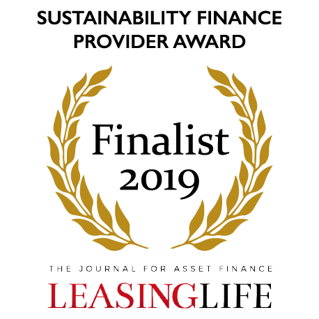 Sustainability finance provider award finalist 2019 - Leasing Life